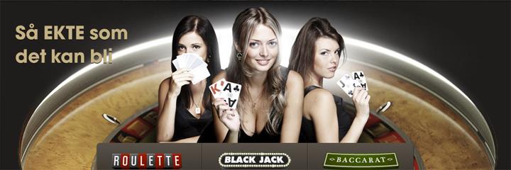 Live casinodamer hos Betsafe Casino Black